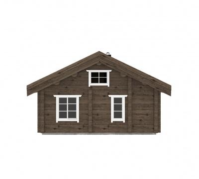 UAB Log Villa 47 m2 Rąstinis namas Kopa