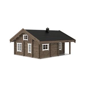 47 m2 rąstinis namas Kopa