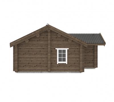 Rąstinis namas ''Venta'' | UAB Log Villa | Rąstinių namų statyba