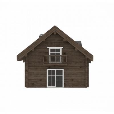 UAB Log Villa 115 m2 Rąstinis namas