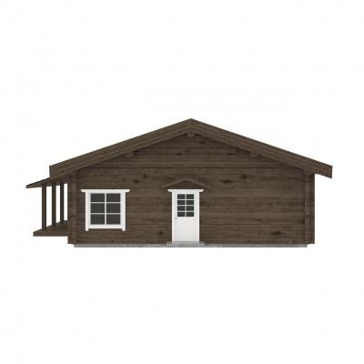UAB Log Villa 120 m2 Rąstinis namas