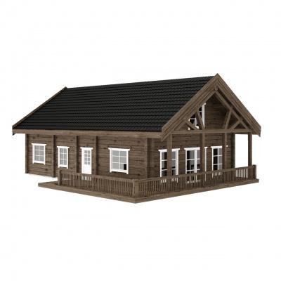 UAB Log Villa 130 m2 rąstinis namas