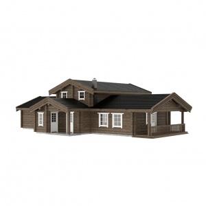 UAB Log Villa 153 m2 Rąstinis namas