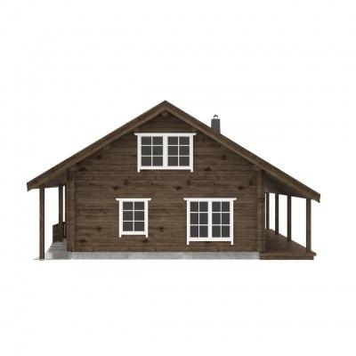 """175 m2 rąstinis namas """"Lėvuo"""""""