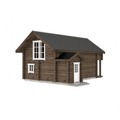 UAB Log Villa 80 m2 rąstinis namas Ūla
